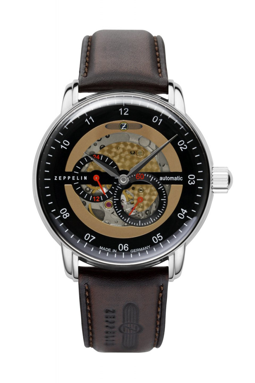 HAU, Zeppelin New Captain´s Line Automatic 82S7 Cal. 82S7 21 Jewels, Edelstahl wr 5atm