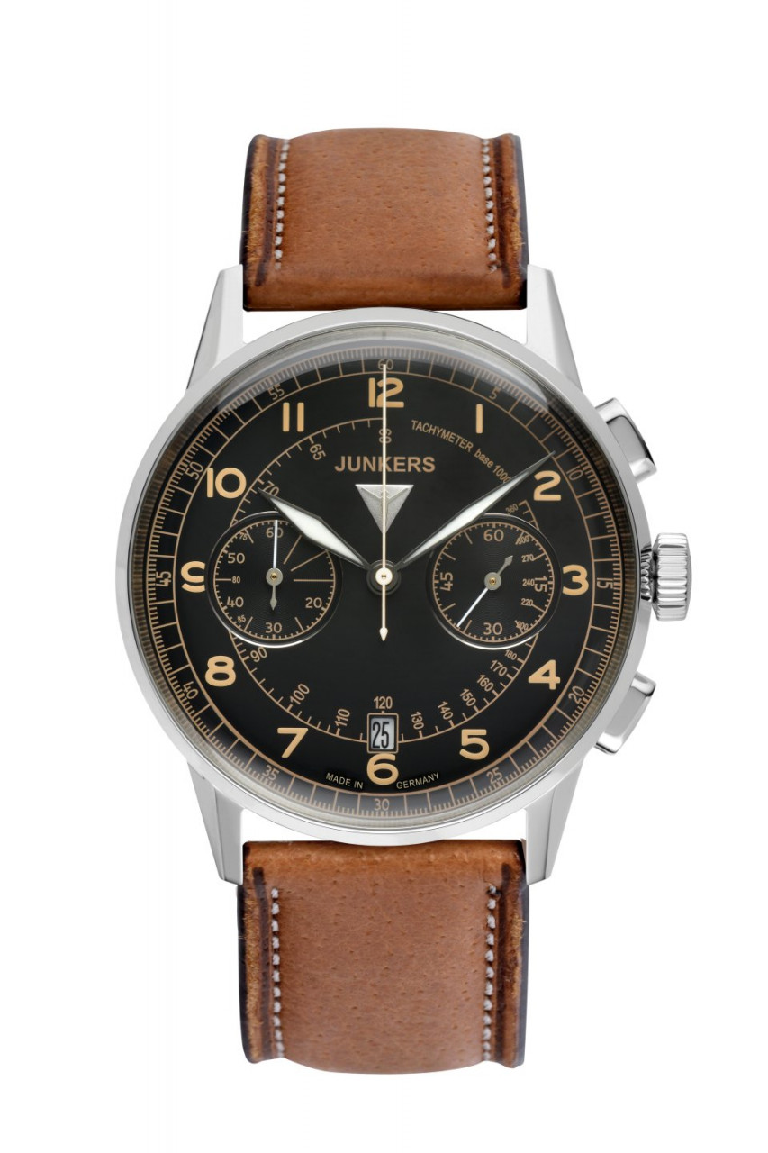 HAU, Junkers G38 Chronograph 6S21 Steelcase 42mm, water-resistant 10atm