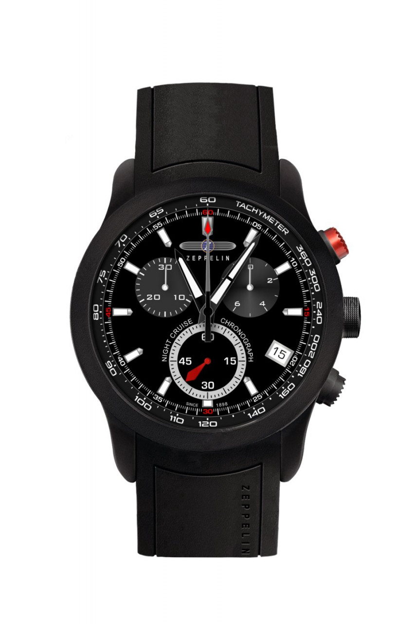 HAU, Zeppelin Night Cruise Chronograph Eta G10.211, Black PVD-Steelcase 10atm