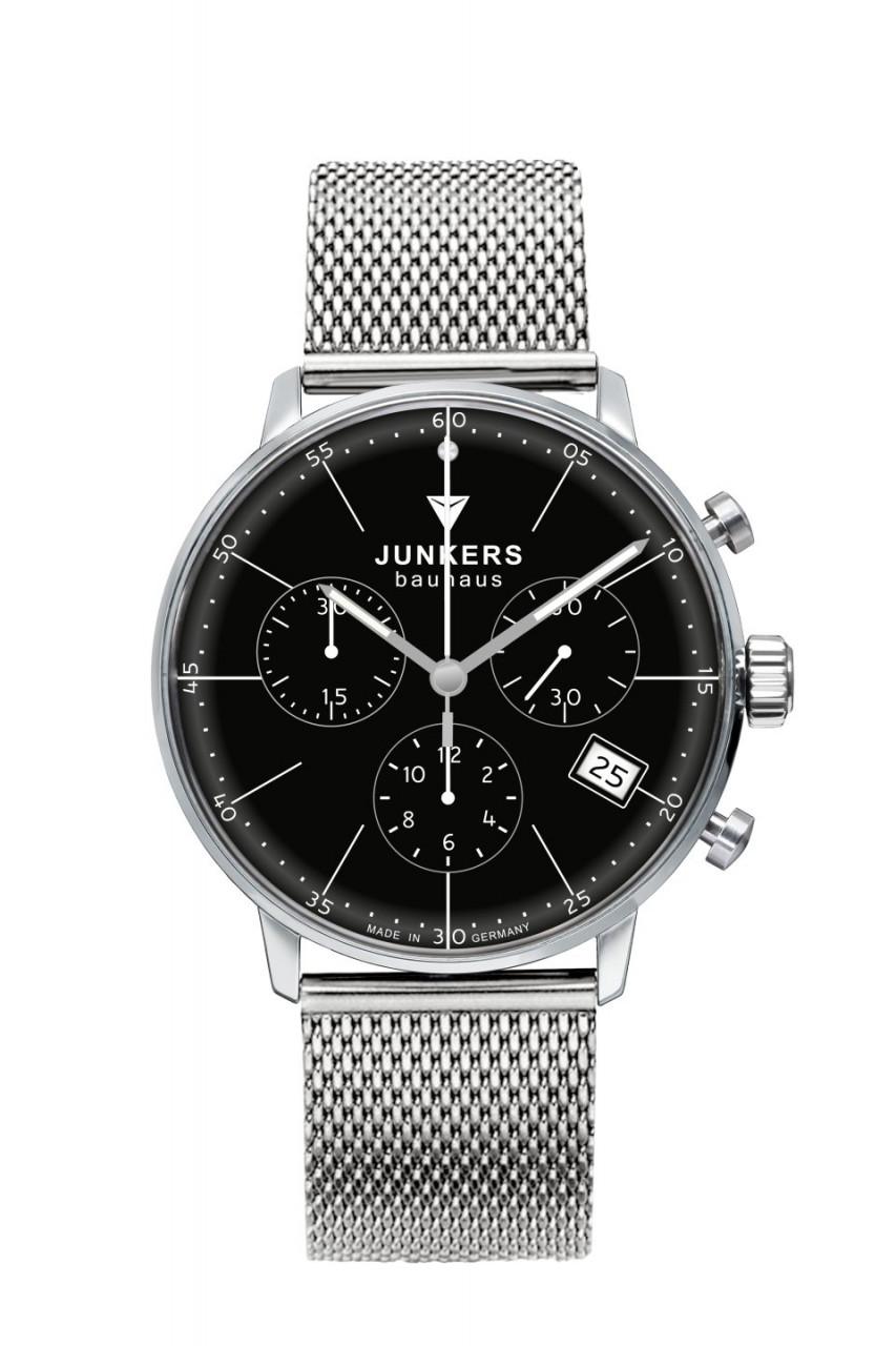 DAU, Junkers Bauhaus Chronograph MB Ronda 5030.D, Steelcase 36mm, wr 3atm