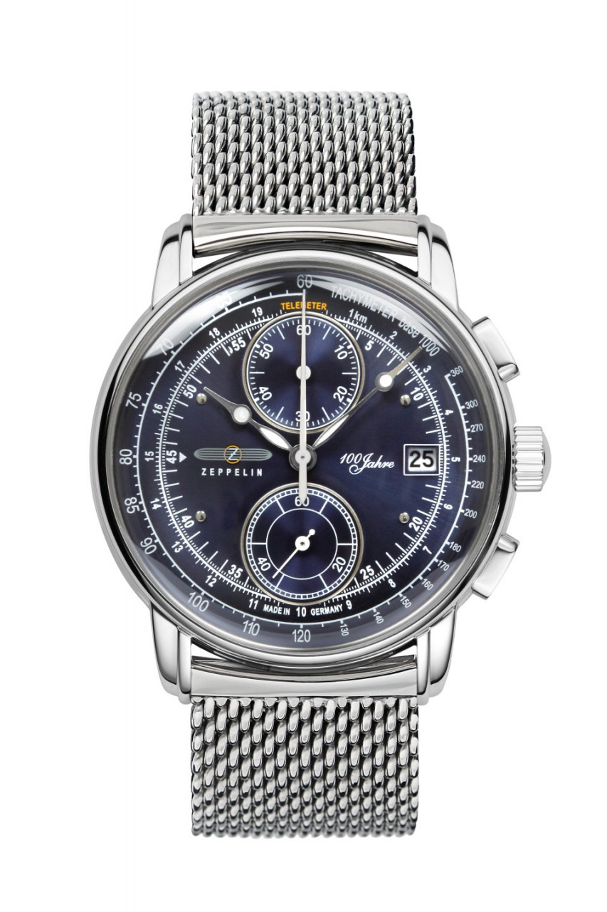 HAU, Zeppelin 100 Jahre Chrono Cal. 6S11 MB Steelcase PVD-RGS wr 5atm, MineralglasK1