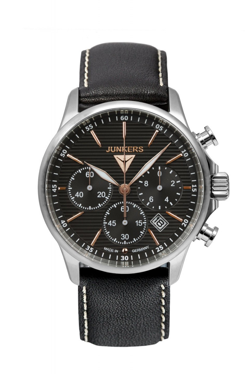 HAU, Junkers Tante JU Chronograph Wellblech Citizen Chronograph 6S20, Steelcase wr 10 atm