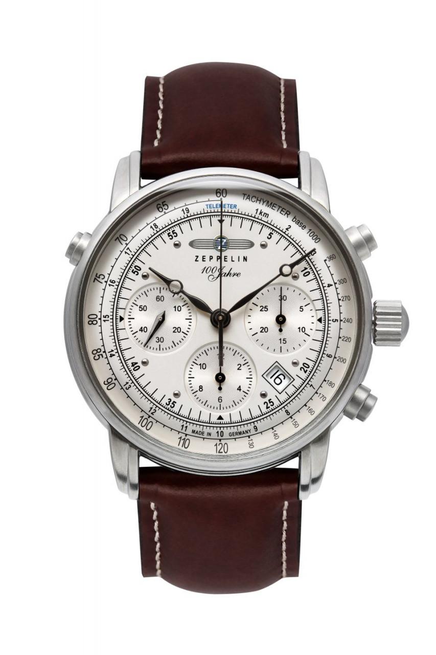HAU, Zeppelin 100J. Chrono Autom ETA7753 Steelcase wr5atm, Saphirgl., Chronometer