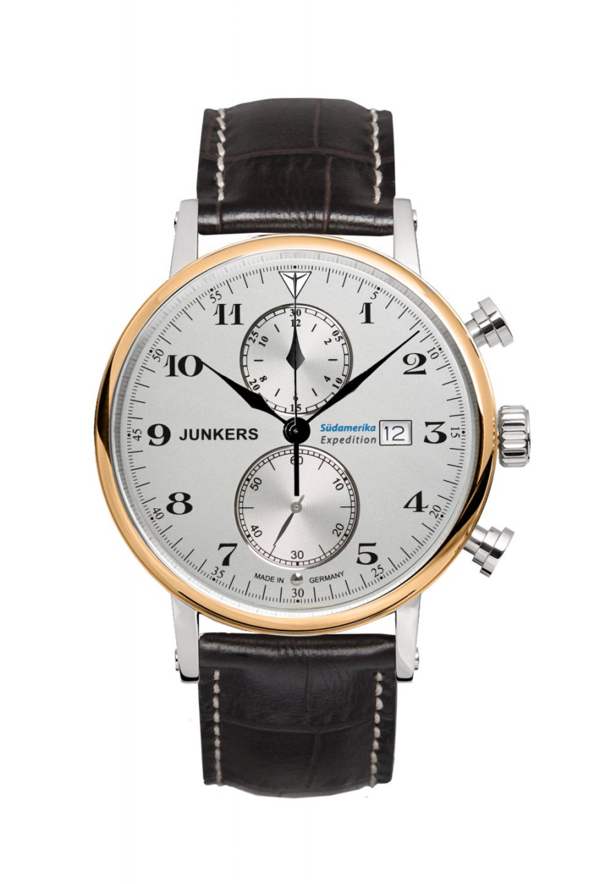 HAU, Junkers Südamerika Ronda 3520.D Chronograph Ronda, Edelstahlgeh. wr10atm