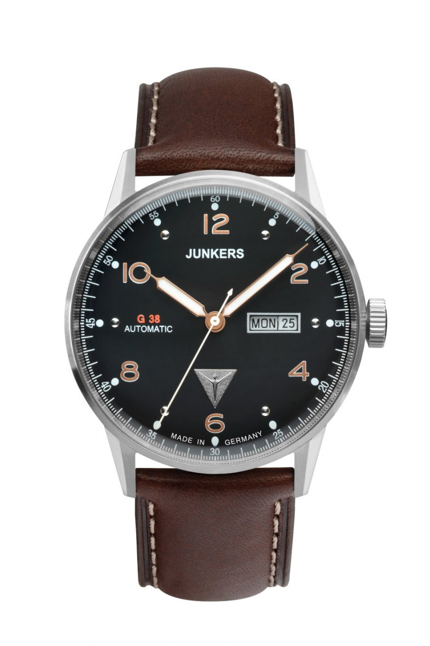 HAU, Junkers G38 Automatik DayDate 8205 21 Jewels, Steelcase 42mm, wr10atm