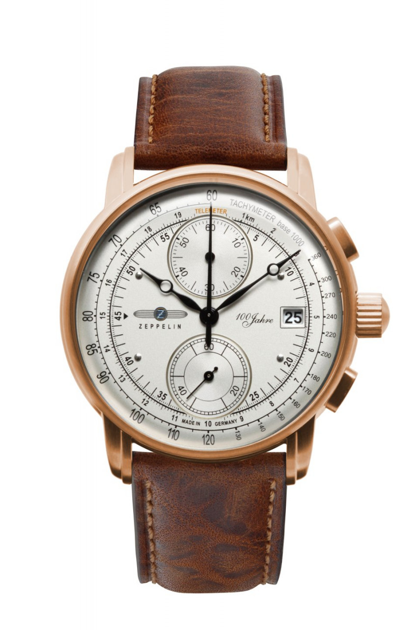 HAU, Zeppelin 100 Jahre Chrono Cal. 6S11 Steelcase PVD-RGS wr 5atm, MineralglasK1