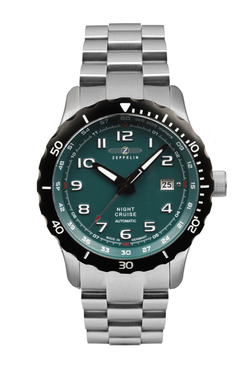 HAU, Zeppelin NightCruise Automatic MB Kal. 9015 24 Jewels, Steelcase Diver wr 20atm