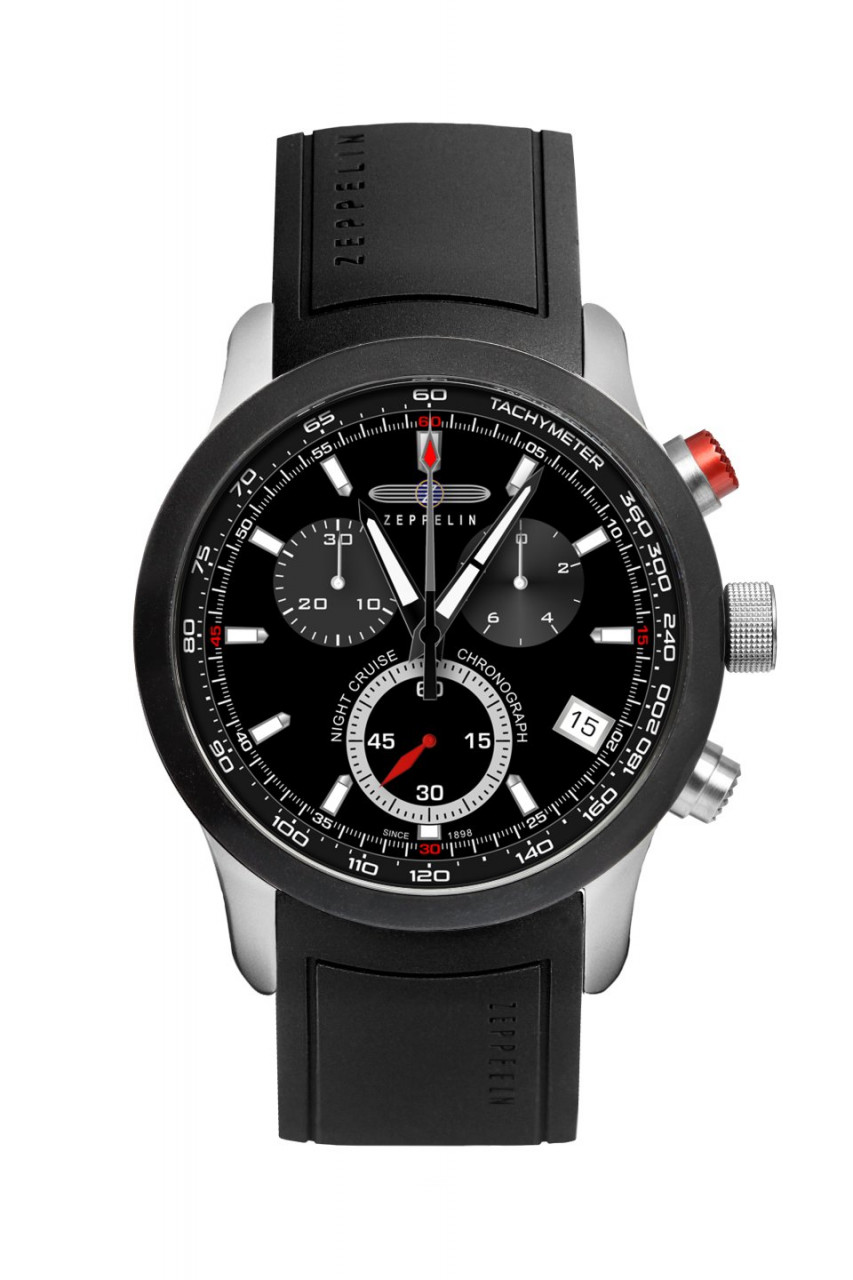 HAU, Zeppelin Night Cruise Chronograph Eta G10.211, Steelcase 10atm