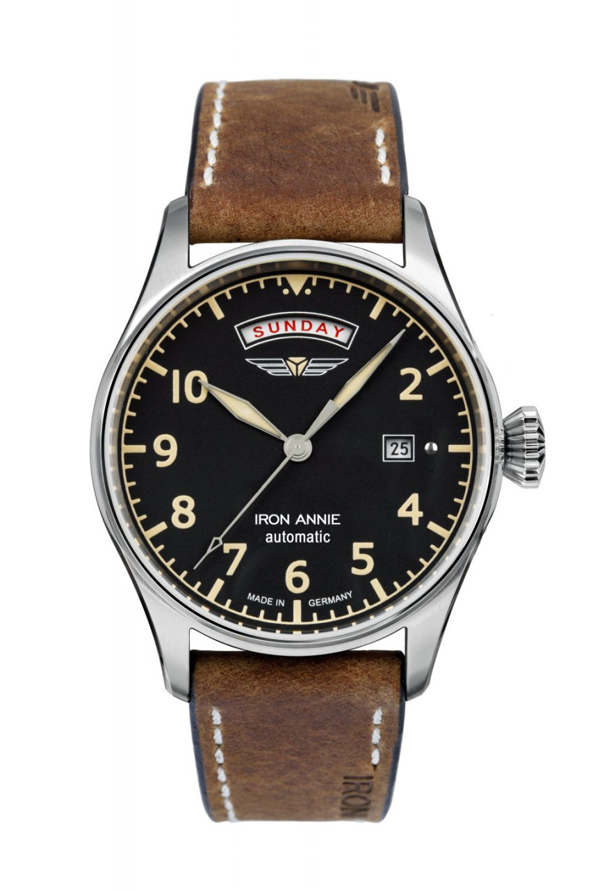 HAU, CT-Iron Annie Automatic 8285 Cal. 8285 21 Jewels, Edelstahl wr 5atm