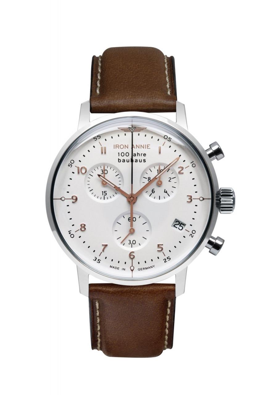 DAU, Iron Annie Bauhaus Chronograph ETA G10.212 Steelcase 40mm, Mineral-K1 crystal, wr 5 atm