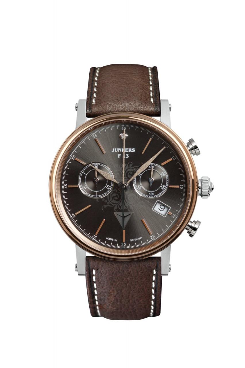 DAU, Junkers Südamerika Ronda 5021.D Chronograph Ronda, Steelcase PVD-bicolor 5 atm