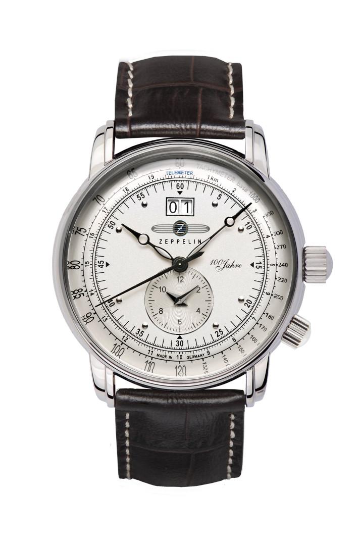 HAU, Zeppelin 100 Jahre Dual-Time Ronda6203 LZ-127, Stainless Steel, wr5atm, MineralK1