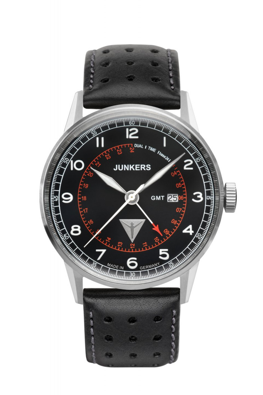 HAU, Junkers G38 GMT-Time Ronda 505.24H Steelcase 42mm, water resistant 10atm