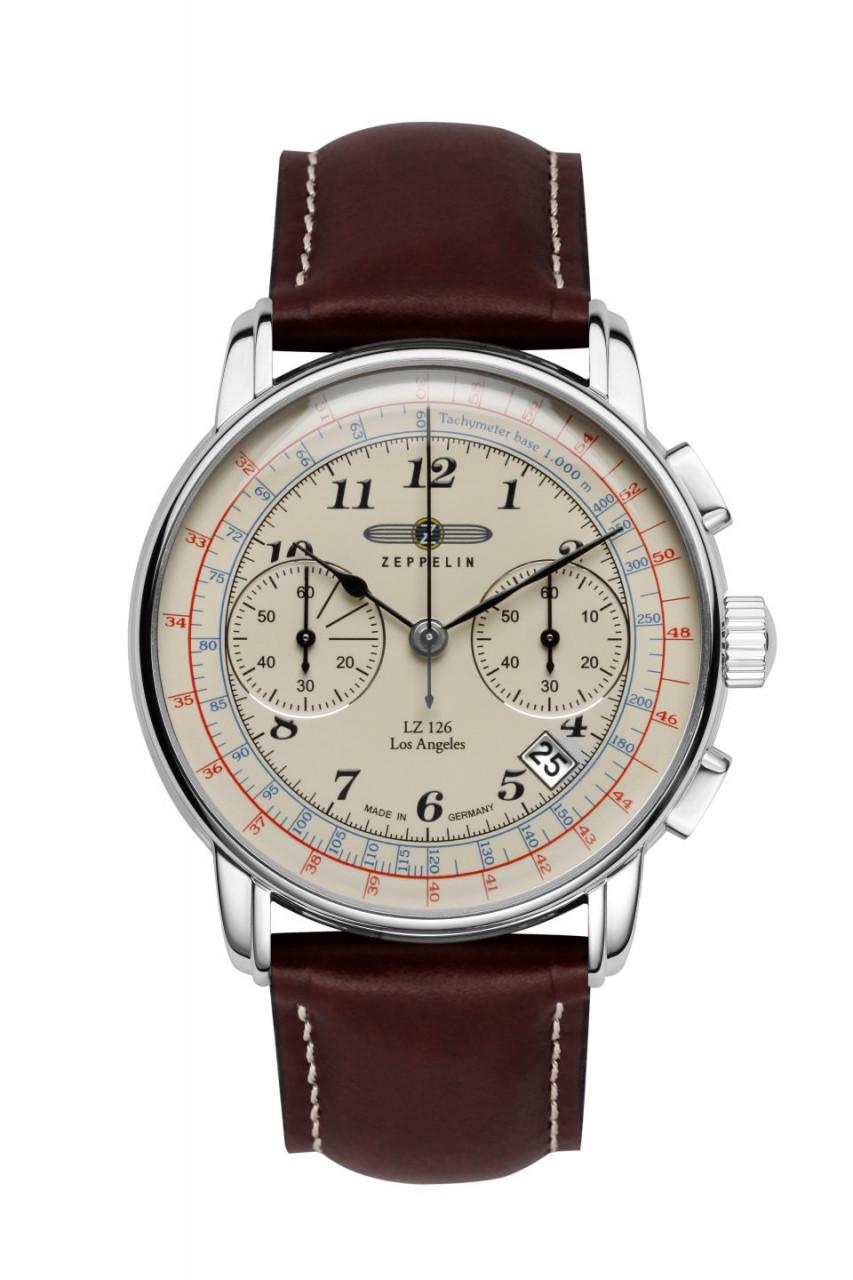 HAU, Zeppelin LZ-126 LA Chronograph 6S21 Citizen 6S21, Steelcase wr 5atm, MineralglasK1