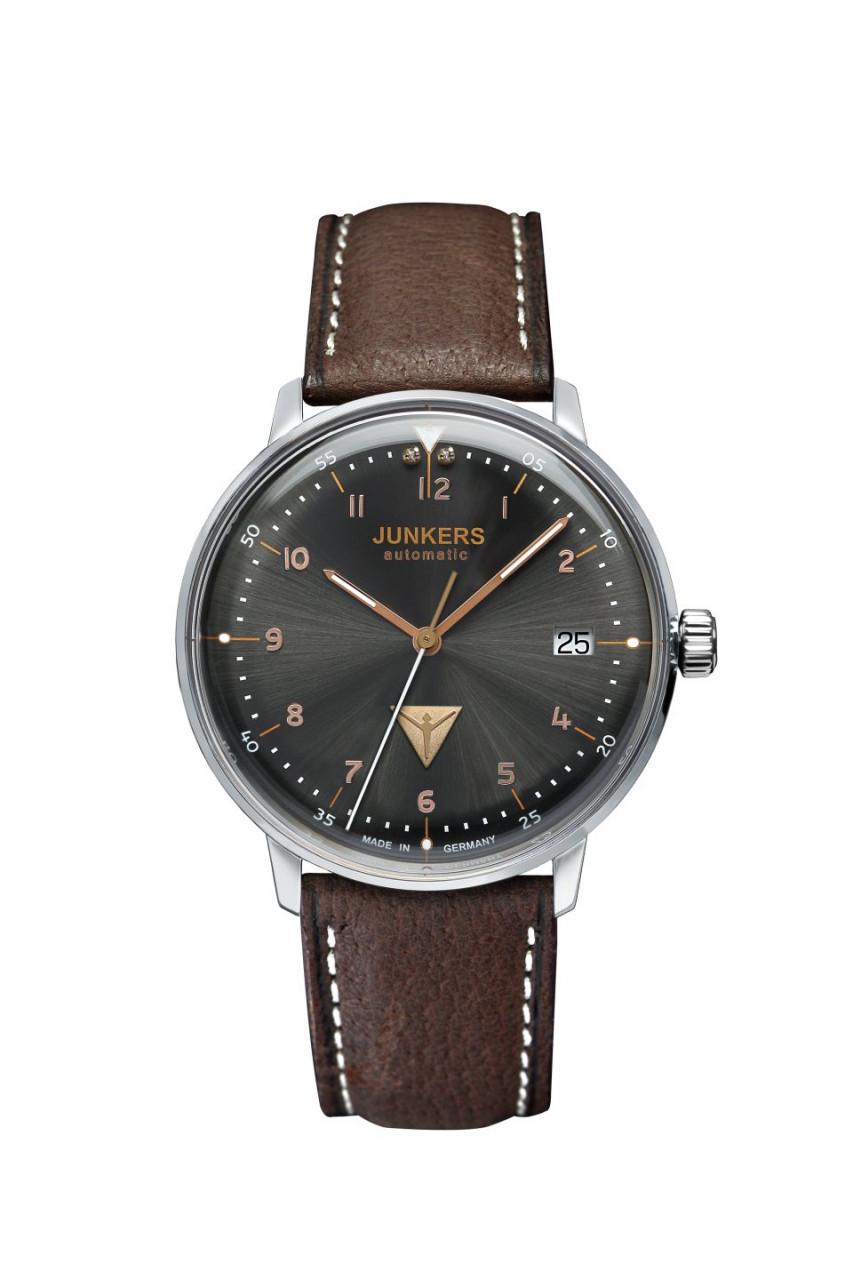 DAU, Junkers Bauhaus Automatik Cal.9015 24 Jewels, Steelcase 35mm, wr 3atm