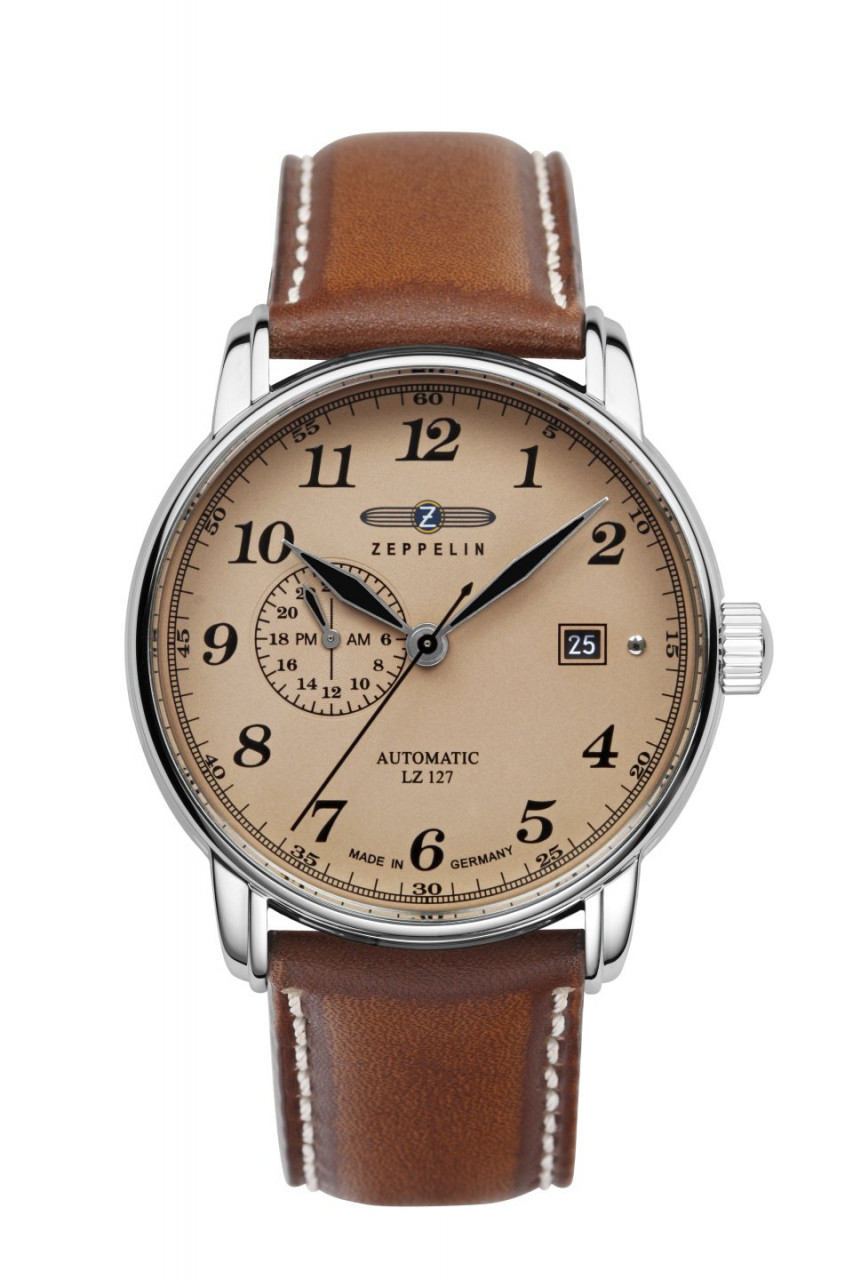 HAU, Zeppelin LZ-127 Automatic 8217 Cal. 8217 21 Jewels, Edelstahl wr 5atm
