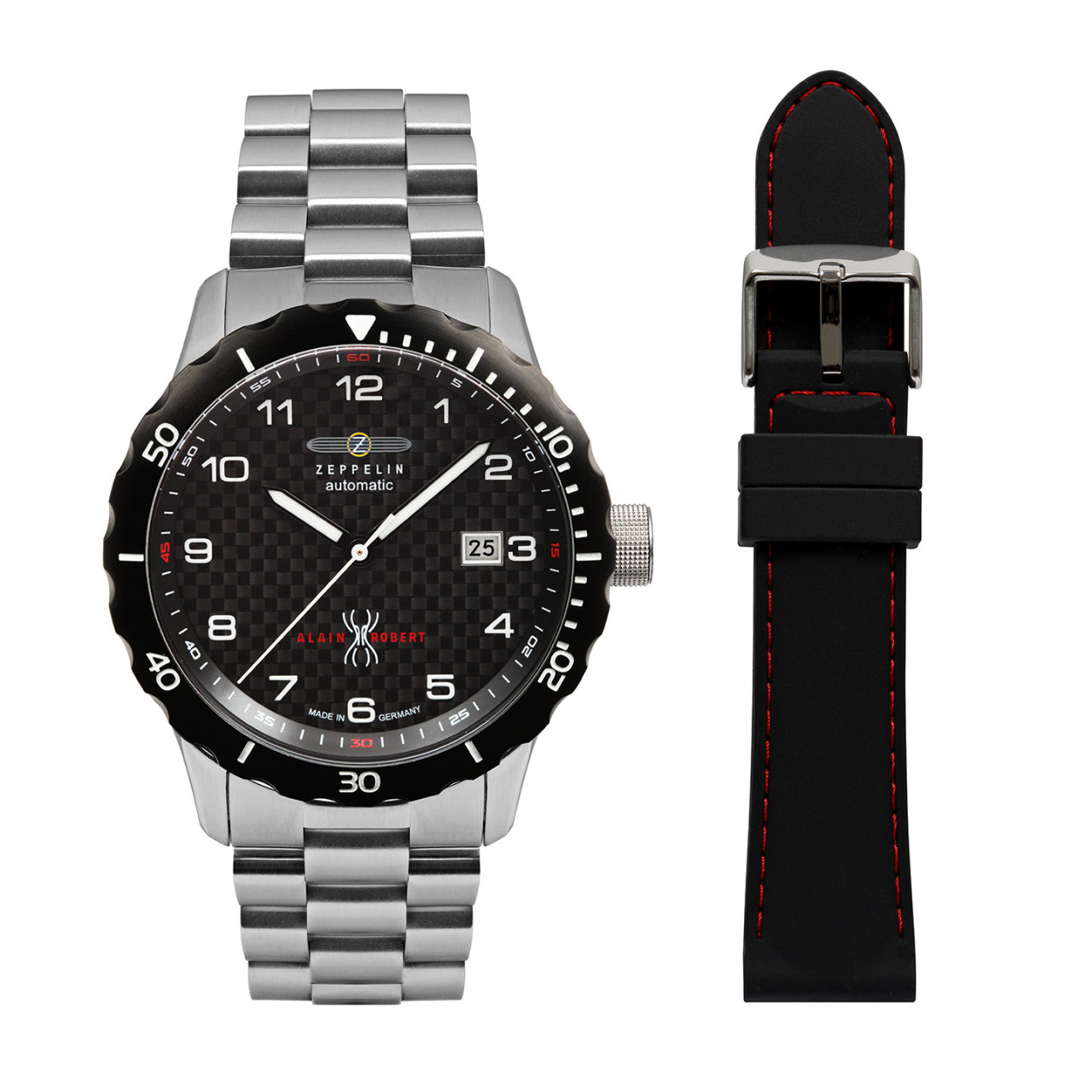 HAU, Zeppelin NightCruise Automatic Ed. AR SET Kal. 9015 24 Jewels, Steelcase Diver wr 20atm