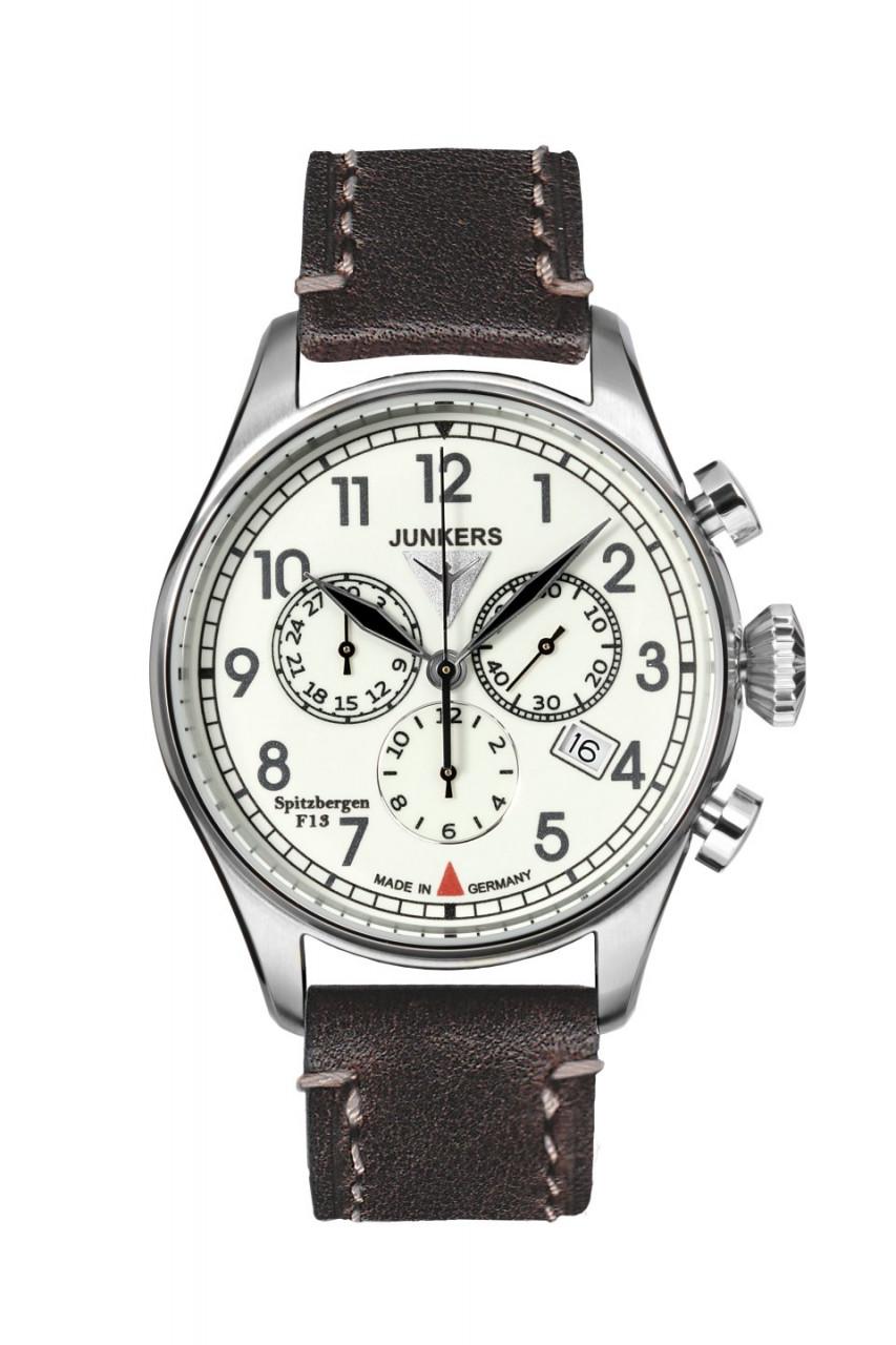 HAU, CT-Junkers Spitzber Ronda 5030.D SL Chronograph Ronda, Edelstahlgeh. wr5atm