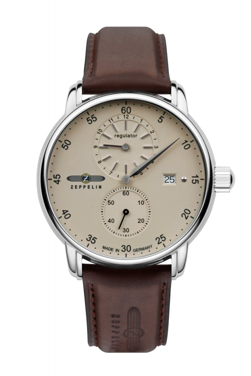 HAU, Zeppelin New Captain´s Line Regulator Automatic Swiss Regulator SW 266 31Jew., Edelstahl wr 5at