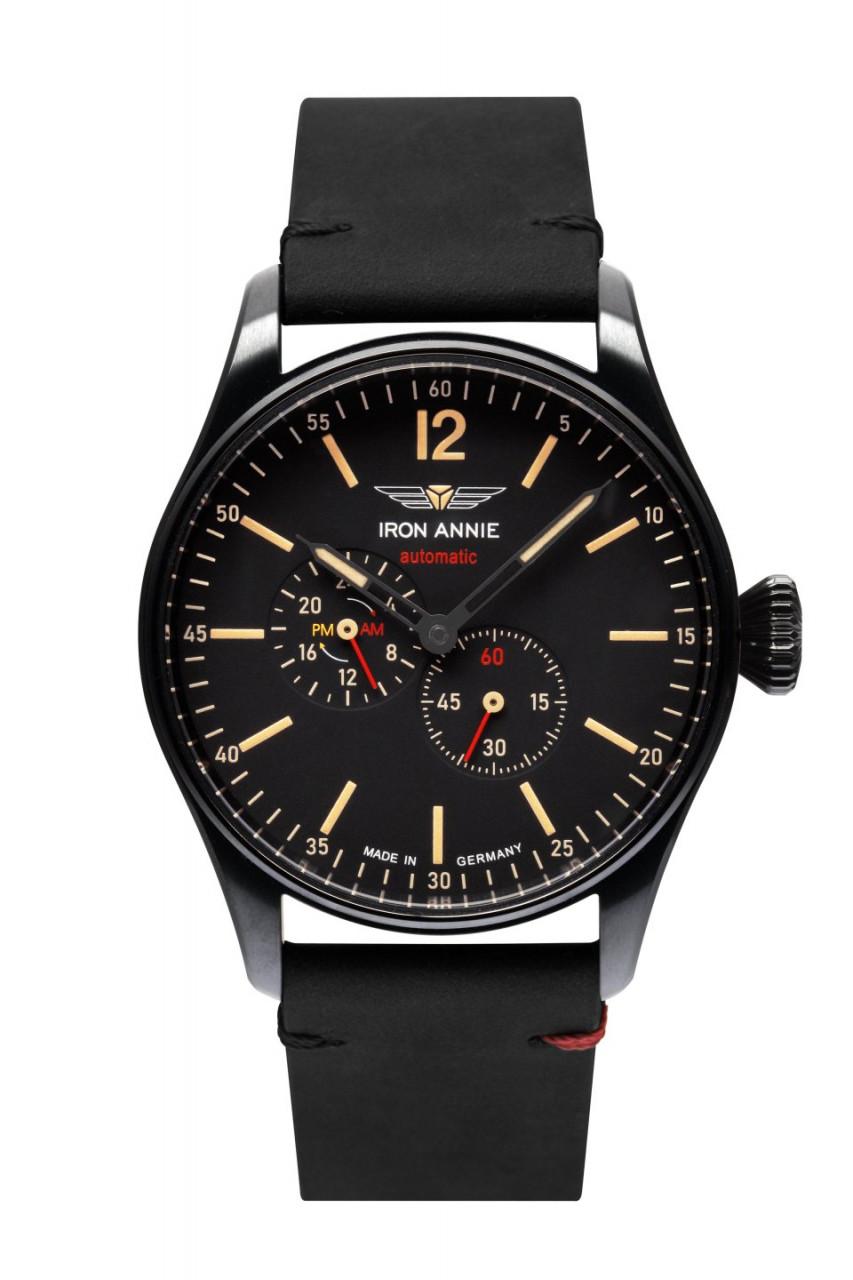 HAU, CT-Iron Annie FC Automatic 82S7 black Cal. 82S7 21 Jewels, Edelstahl-DLC black wr 5atm