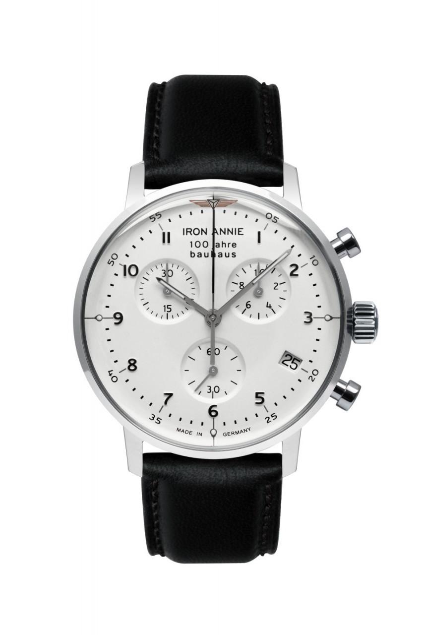 HAU, Iron Annie Bauhaus Chronograph ETA G10.212 Steelcase 40mm, Mineral-K1 crystal, wr 5 atm