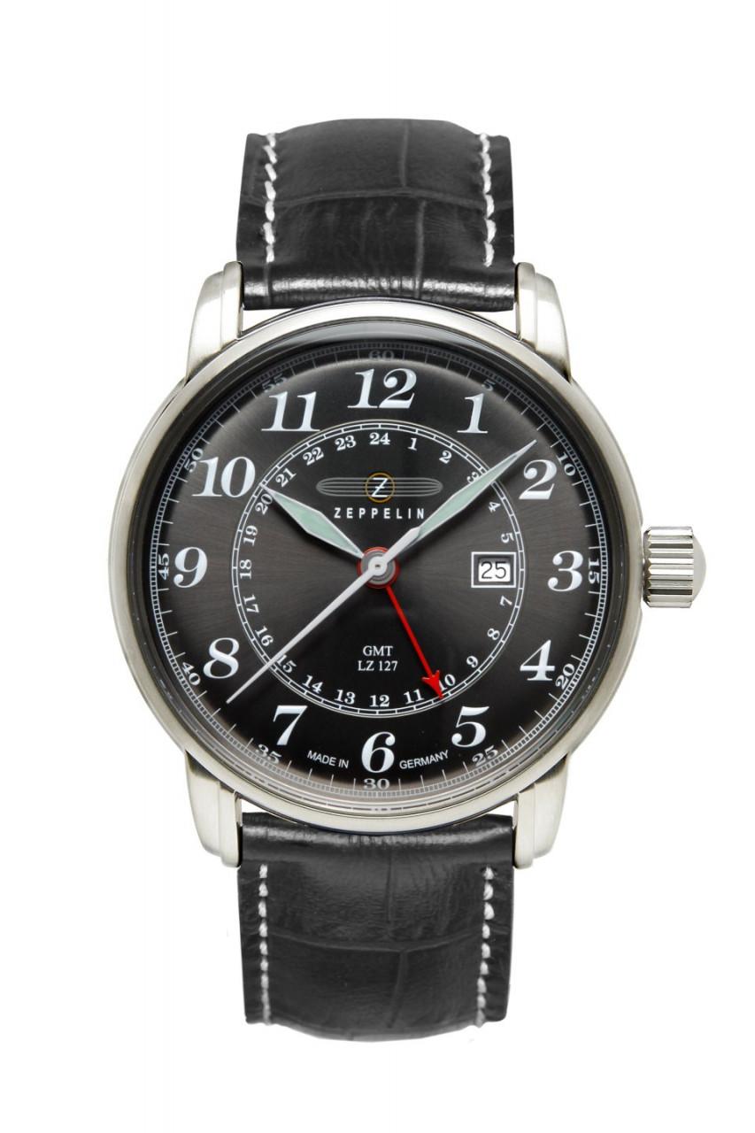 HAU, Zeppelin LZ-127 GMT-Time Ronda 505 Steelcase, wr 5atm, MineralglasK1
