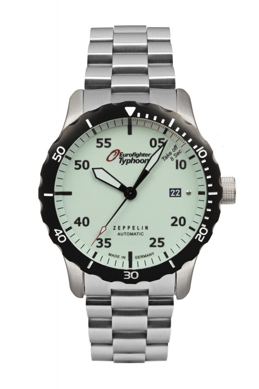 HAU, Zeppelin Automatic Ed. Eurofighter MB Kal. 9015 24 Jewels, Steelcase Diver wr 20atm